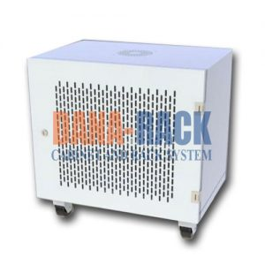 Tủ Rack 10U-D600 (Treo Tường) Màu Kem - Cửa Lưới