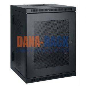 Tủ Rack 15U-D800 (Treo Tường) Màu Đen - Cửa lưới