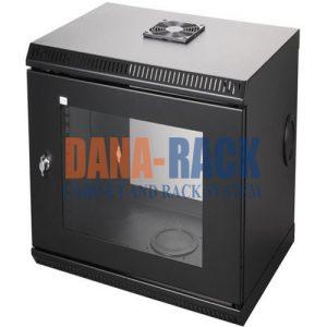 Tủ Rack 12U-D800 (Treo Tường) Màu Đen - Cửa Mica