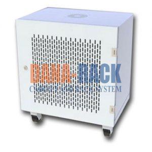 Tủ Rack 12U-D800 (Treo Tường) Màu Kem - Cửa Lưới