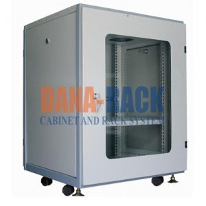 Tủ Rack 12U-D800 (Treo Tường) Màu Kem - Cửa Mica