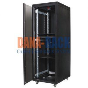 Tủ Rack 20U-D600 Màu Đen - Cửa Mica